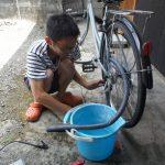 自転車パンク修理!!